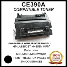 Compatible HP CE390A (90A) Laser Toner Cartridge FOR HP LJ M4555h MFP/ Enterprise 600/M601/M602/M603