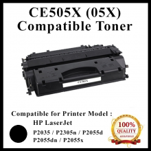 Compatible CE505X / CANON CART 319 II Laser Toner Cartridge For HP LaserJet P2050 / P2055