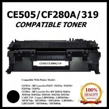 Compatible HP CE505A (05A)  / CF280A (80A) / CANON CART 319 (Universal) Toner Cartridge