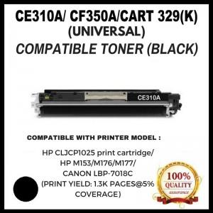 [ Optional Color ]Compatible HP CF350A ( 130A ) / CE310A  ( 126A ) / CANON CART 329 Toner Cartridge For HP CLJ CP1025/ Pro 100 MFP M175/M275/HP M153/M176/M177/Canon LBP-7018C
