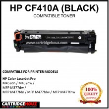 Compatible HP CF410A (410A) (Black)  Laser Toner Cartridge for HP Color LaserJet Pro M452dn / M452nw / MFP M377dw / MFP M477fdn / MFP M477fdw / MFP M477fnw Printer