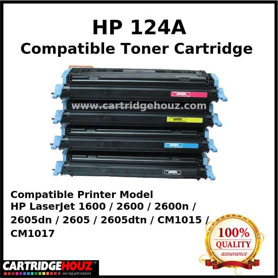 Toner Laser Ink Color Printer Cartridge for Hp 2600 2600n 1600 2605 2605n 124a